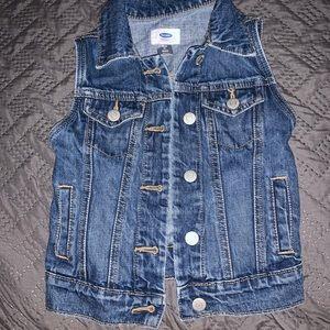 Girls jean vest